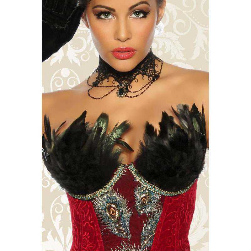 Burlesque Corsage in Rot