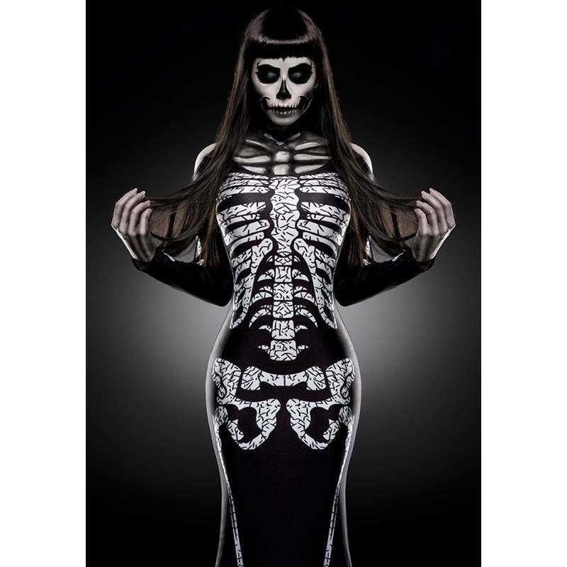 Skeleton Lady als Skelett Kostüm